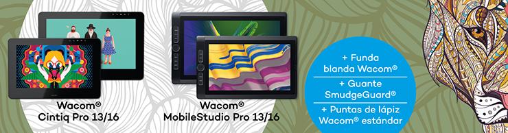 descuentos y promociones de wacom MobileStudio y Cintiqs