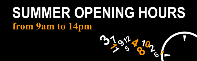summer openning hours