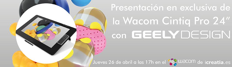 presentación de la wacom cintiq pro 24hd en icreatia